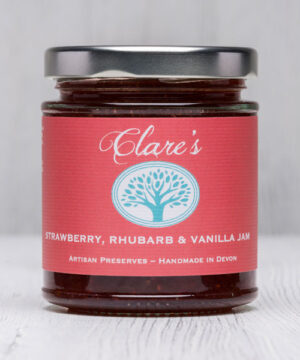 Strawberry, Rhubarb & Vanilla Jam